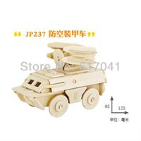 best armored car - 3D puzzle wooden lovely armored car early intelligence educational toy for years kid toy best Christmas gift for