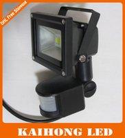 Wholesale new black W led spotlight Promotion PIR Motion Sensor LED Flood light Advertising lamp W LED Floodlight detective Sensor lamp