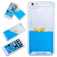 aquarium tank covers - Top quality New Cute Rubber Duck Tank Liquid Aquarium Swimming Case Cover For Apple iphone s plus s splus