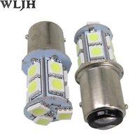 BAY15D S25 Ampoules 13 SMD 5050 Chip LED 1157 feux arrière de freinage feux stop 12v double filament frein d'arrêt de l'ampoule de feu arrière Globe