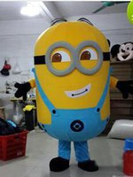 Wholesale 2015 Hot sale Deluxe Cartoon clothing Despicable Me Minion Cartoon Mascot Costume Adult Cartoon Character Costumes mascot costume