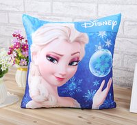 Wholesale 2014 new style Frozen Elsa Inspirations pillow case bolster sofa car cushion cover woman ikea pastoral style cotton Linen Cloth pattern