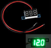 Бесплатная доставка Mini 2 провода DC 3.3-30V Светодиодные панели цифровой дисплей напряжения метр Вольтметр Желтый Зеленый Красный Синий свет Voltimetro