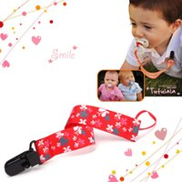 Wholesale Boy Girl Baby Dummy Pacifier Soother Nipple Leash Strap Chain Holder Clip Gifts