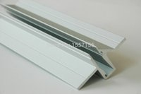 aluminum profiles for glass - New Recessed Aluminum Led Profile For v Rgb Strip Light Without Any Cover For Inserting Tempered Glass Freeshipping