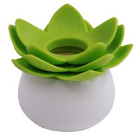 Wholesale Toothpick Holders Lotus Flower Vase Cotton Swab Case Bud Storage Box Bins Plastic Environmental protection