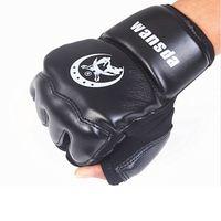 Wholesale Leather Half Finger Fight Boxing Gloves Mitts Sanda Karate Sandbag Taekwondo Protector For Boxeo Mma Muay Thai Kick Boxing GYD21