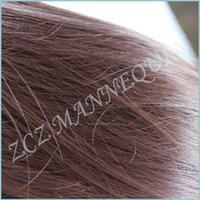 Wholesale ZCZ Makeup Mannequin Hairdressing High Temperature Fiber Hair Training Mannequin Head With Hair For College Clamp MT123