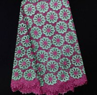 Wholesale yards NS14 cotton Swiss voile lace fabric nice looking embroidered African lace fabric