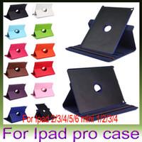 Wholesale Mewah rotasi kasus PU kulit for Apple Ipad air air2 mini Pro Smart cover Flip kasus dengan fungsi berdiri