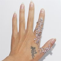 double finger ring - Brand New Vintage Gold Plated Jewelry Stainless Steel Chain Two Finger Rings For Women Link Double Ring Tree