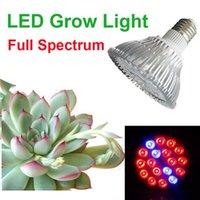 Wholesale Full Spectrum LED Grow Lamp PAR Hydroponic System Vegetables Energy Saving Spotlight W W W W W E27 for Flower Plant Grow Box