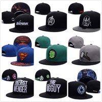 baseball comics - 2016 New Fashion Design Comic Marvel Snapback Hats Baseball Caps gorras Star Wars Sports Hip Hop Snapback Caps