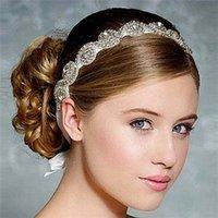 diamond tiara - Hot Saling New Women Wedding Bride Tiaras Hair Accessories Original Pure Manual High Grad Diamond AccessorieTwo Design XH23