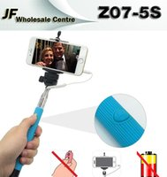 Wholesale Z07 S Extendable Selfie Stick Monopod Tripod Camera Remote Shutter Handheld Wired Cable Take Pole for iPhone IOS Android Phone