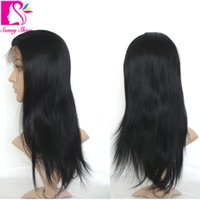 bank netting - New Fashion Style Malaysian virgin human hair straight lace wig with baby hair cheap lace front wigs with Elastic net Sale b