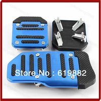 Wholesale SET Car Auto Vehicle Non slip Pedal Aluminium Alloy Foot Treadle Cover Pad Blue