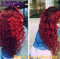 Cheap Brazilian Full Lace Wig Best Red Human Hair Wig