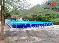 backyard swimming pools - Easy Install Garden Backyard Metal Frame PVC Inflatable Deep Swimming Pool