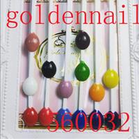 Wholesale Golden Nail Spoon Shape Nail Color Board Nail Art Polish Colors Display Board White Clear Natural False Nail Art Display Tips