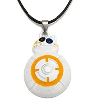 Pendant Necklaces bb necklace - NEW Hot fashion Cartoon movie toys Star Wars BB The Force Awakens Pendant necklace Toys STAR WARS best gifts