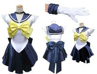 amara gloves - 2015 Disfraces Christmas Costumes Fantasia Infantil Sailor Moon Sailormoon Cosplay Costume Amara Uranus with Glove And Tiara