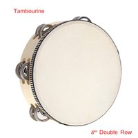 educational games for children - New Arrival Musical Toy quot Double Row Tambourine Drum Bell Percussion Educational Musical Instrument for Children Kids Games I595