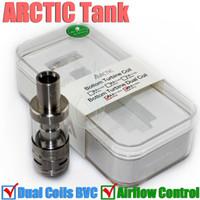 Meilleur réservoir sub-oh arctique Horizon airflow Atomiseur BTDC bobines doubles de 30-100watt v Méga Subtank Atlantis Mini Joyetech Delta Arctique RDA DHL