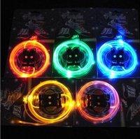 led shoelaces - 100pair LED Flashing Shoelace Fiber Optic Glowing Shoe Laces Dance Ice Skating Light Up Luminous Shoelaces With Retail Package