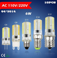 Wholesale NEW AC85 V V G9 G4 E11 E14 E17 W LEDs Crystal lamp High End Silicone Body SMD LED light Bulb For Chandelier