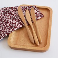 Wholesale New Style Cheese Knives cm Breakfast Cake Jam Knives Solid Wood Korea Style Cutlery MOQ Piece