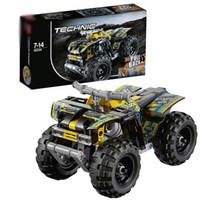 lego like quad bikes - 10pcs Technic blocks L42034 Quad Bike with box building blocks bricks action figure DIY educational toys kids baby gift cheap HX