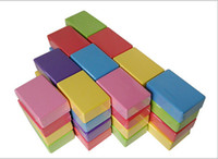 Wholesale New Colors Yoga Block Brick Foaming Foam Home Exercise Practice Fitness Gym Sport Tool