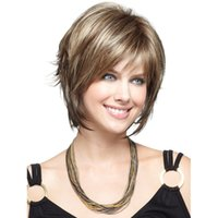 Wholesale Black bob wig for women Wavy haircuts Synthetic short wigs with bangs False hair Cosplay Wigs