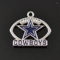 badge charms - Dallas Cowboys Football team badge enamel charms Logo a