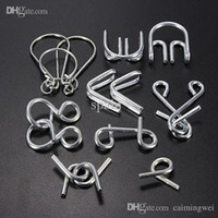 Wholesale Hot Sale IQ Test Toys Mind Logic Game Brain Teaser Metal Wire Puzzles Classical Chinese educational Toy for Kid Adult
