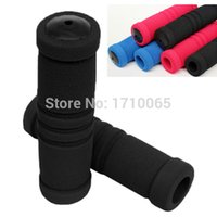 Wholesale 2015 Bike Bicycle Grips Motorcycle Handle Bar Cover Bike Bicycle Racing Sponge Soft Sweat Bicycling Handlebar Grip Covers