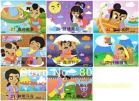 allegory paintings - Big Size cm DIY Puzzle Sticker Paintings Chinese Allegory Characters Educational DIY D Sticker Toy