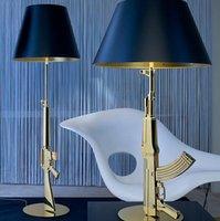table lamp - Modern FLOS AK47 Chrome Gold Gun Table Lamps Desk Light Starck Design Philippe Read Night Light Super Light Living Room Bedroom Table Lamp