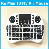 Wholesale I8 Fly Air Mouse G Mini Wireless Keyboard Mouse for M8 CS918 MXQ MX MX3 MXIII tv Box Retail packing Touchpad Handheld