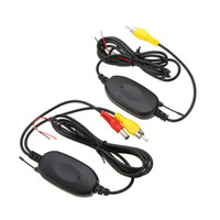 alarm transmitter - 2 GHZ Wireless Video Transmitter Receiver Kit Set m car detector for Car Rearview Camera Monitor DVD Player GPS LED Indicator K2195