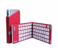 Wholesale B O W HB022 mini bluetooth wireless ultrathin folding keyboard support windows android ios phone tablet