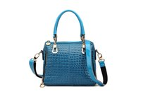 Wholesale Hot fashion multicolor handbags shoulder bags patent leather crocodile sticks bag Ms leisure handbag snakeskin pattern