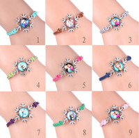 Wholesale Frozen infinity Bracelets Charm Queen Elsa princess Anna Olaf infinity Snow Wristbands color