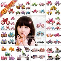 Wholesale 1000 pairs hair clips hair bands baby hair accessories Pink pig Winxclub Bubble Guppies Hello kitty Little Pony Strawberry Frozen Sofia gift
