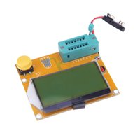 Wholesale LCD Display ESR Meter LCR led Transistor Tester Diode Triode Capacitance MOS PNP NPN yellow green Backlight
