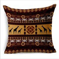 Cotton african style cushions - home style African national wind str life thick cotton and lien mordern minimalist office pillow case home sofa car cushion case cm11