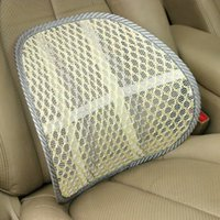 Wholesale Car Styling Car Lumbar Pillow Mesh Breathable Massage Beige Car Chair Cushion Lumbar Support Ice Silk Tournure Cushions