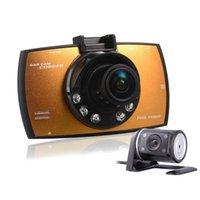 Coche dvr doble cámara tacógrafo dual-lente de conducción de grabación de visión nocturna de tráfico HD fabricantes de registradores al por mayor
