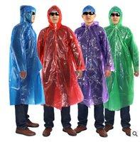 Wholesale so hot Disposable PE Raincoats Poncho Rainwear Travel Rain Coat Rain Wear Gifts Mixed Colors Via DHL